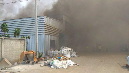 เพลิงไหม้โกดังขยะอิเล็กทรอนิกส์